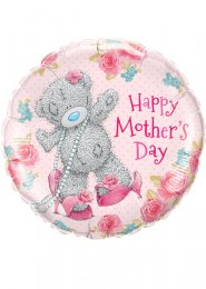 Inflated Pink Tatty Teddy Mothers Day Helium Balloon