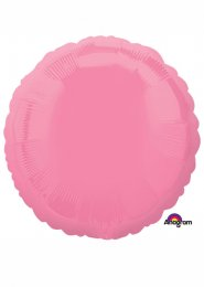 Inflated Bubble Gum Pink Circle Helium Balloon