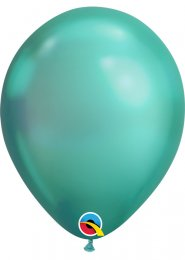 Qualatex Chrome Green Latex Balloons Pk5
