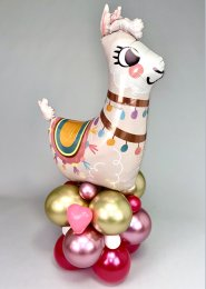Deluxe Large Llama Inflated Balloon Centrepiece Stack