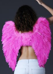 Gorgeous Angel Large Bright Pink Feather Wings