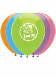 Sorry You're Leaving Party Balloons Pack 6