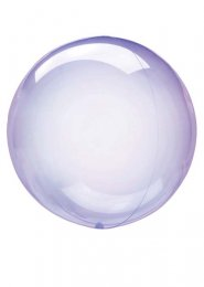 Inflated Purple Crystal Clearz Sphere Helium Balloon