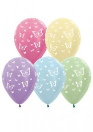Assorted Pastel Butterfly Party Balloons Pack 5