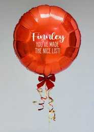 Personalised Christmas Nice List Balloon with Bow
