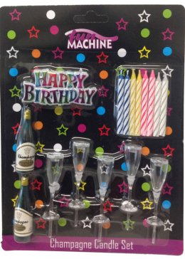 Birthday Party Champagne Candle Set