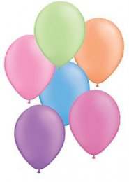 Assorted Neon Party Balloons Pack 6