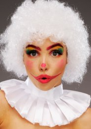White Curly Circus Clown Wig