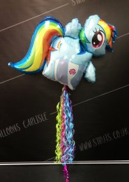 Inflated Rainbow Dash My Little Pony Balloon With Tail