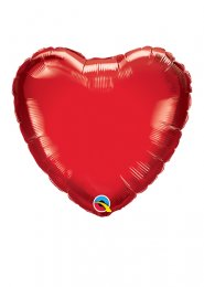 Inflated Red Heart Mini Air Filled Balloon on Stick