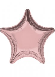 Inflated Rose Gold Star Helium Balloon