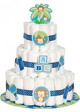 Baby Shower Blue Nappy Cake Kit