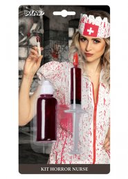 Halloween Fake Blood Make-Up Kit with Syringe