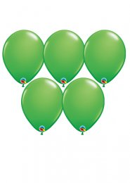 Standard Spring Green Latex Party Balloons Pack 5