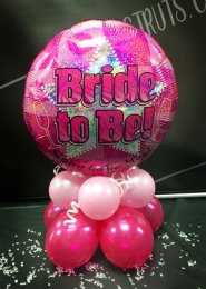 Pink Star Bride To Be Hen Party Inflated Balloon Centrepiece