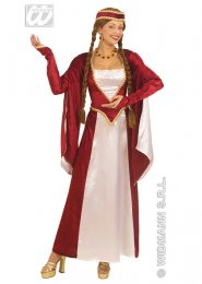 Plus Size Burgundy Medieval Queen Costume