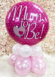 Pink Mum To Be Inflated Balloon Centrepiece