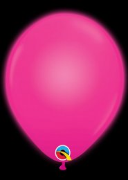 Party LED Magenta Pink Light Up Balloons Pack 5