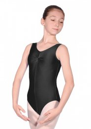 Black Sheree Sleeveless Dance Leotard