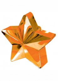 Orange Star Helium Balloon Weight