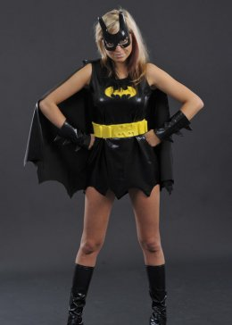 Ladies Petite Size Batgirl Superhero Costume