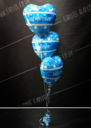 Blue Baby Shower 3 Foil Balloon Cluster