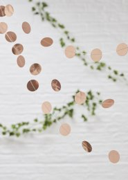 Rose Gold Confetti Garland Party Decoration