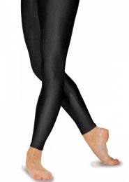 Black Lycra Footless Dance Tights Leggings