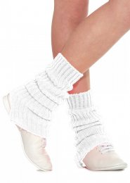 White Stirrup Dance Leg Warmers 60cm