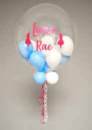 Personalised Alice In Wonderland Balloon Filled Bubble Balloon