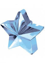 Light Blue Star Helium Balloon Weight