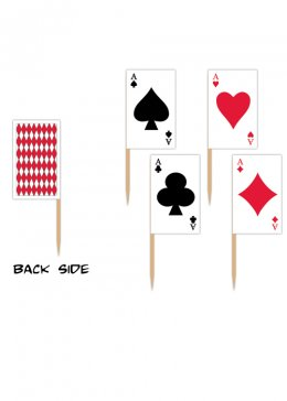 Casino Party Playing Card Picks Pk50