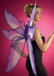 Large Purple and Silver Fairy Wings