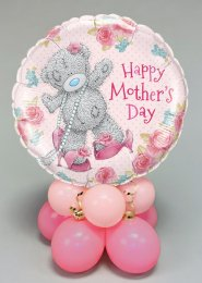 Pink Tatty Teddy Mothers Day Inflated Balloon Centrepiece