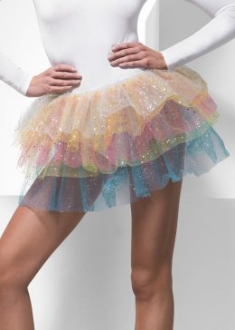 Ladies Sequin Rainbow Tutu Skirt
