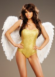 Carnival Showgirl Large White Feather Angel Wings