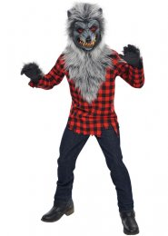 Boys Halloween Teen Grey Werewolf Costume