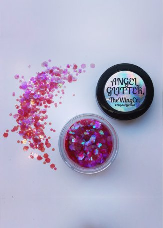 Heartbreaker Iridescent Bright Hot Pink UV Chunky Angel Glitter