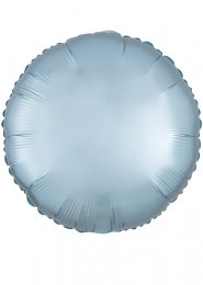 Inflated Pastel Blue Satin Luxe Circle Helium Balloon
