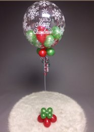 Personalised Christmas Mini Balloon Filled Bubble Balloon