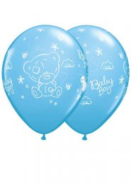 Inflated Blue Tatty Teddy Baby Boy Helium Balloon