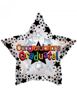 Graduation Star Foil Helium Balloon