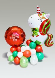 Inflated Large Christmas Unicorn Organic Balloon Centrepiece