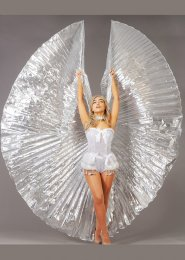 Womens Festival Large Carnival Silver Showgirl Wings