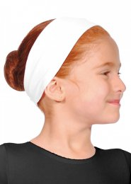 White Cotton Lycra Dance Headband