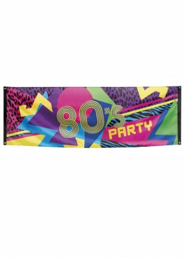 Large 80s Party Decoration Flag Banner