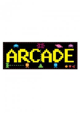 80s Party Decoration Cutout Arcade Sign