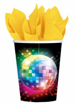 70s Disco Paper Party Cups Pk8