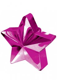 Bright Pink Star Helium Balloon Weight