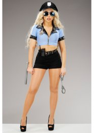 Womens Sexy Police Woman Cop Costume